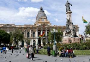 Bolivien La Paz Plaza Murillo